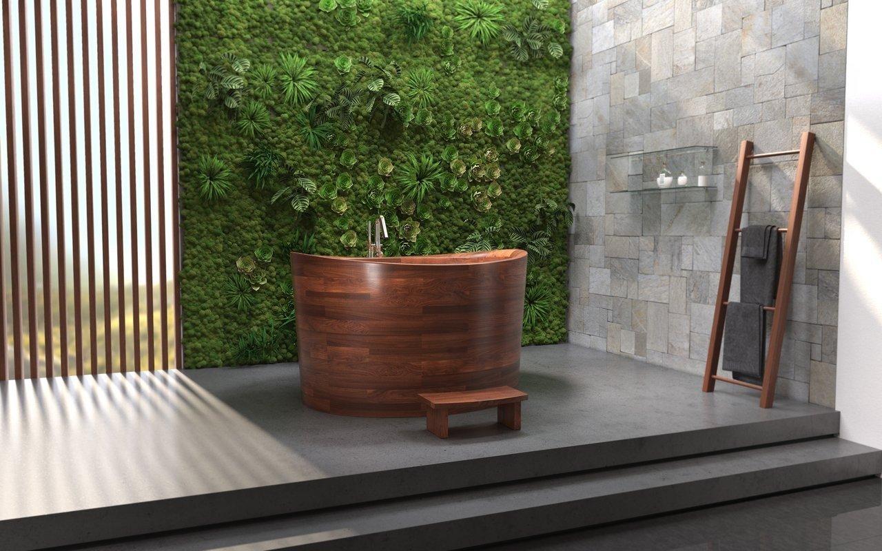 Aquatica True Ofuro Duo Wooden Freestanding Japanese Soaking Bathtub 06 (web)