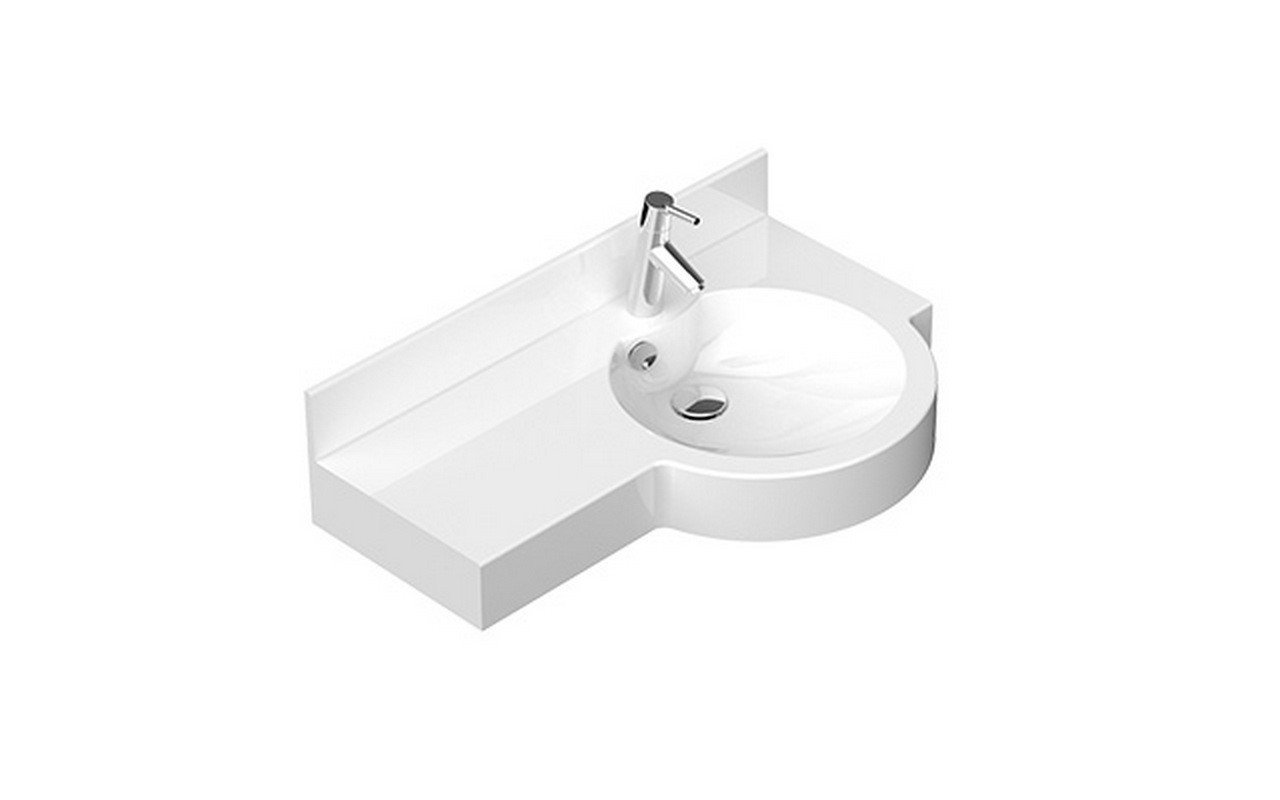 Aquatica Albi R Stone Wall Mounted Washbasin 01