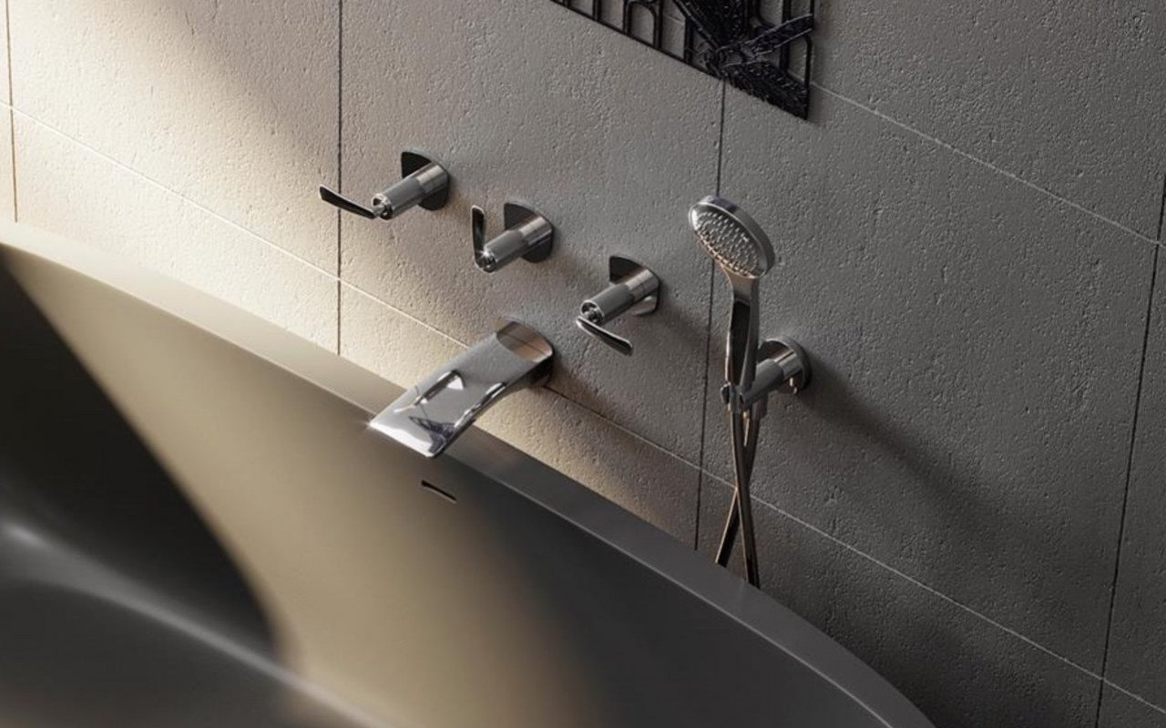 Aquatica Bollicine 111 Wall Mounted Bath Filler – Chrome 03 (web)