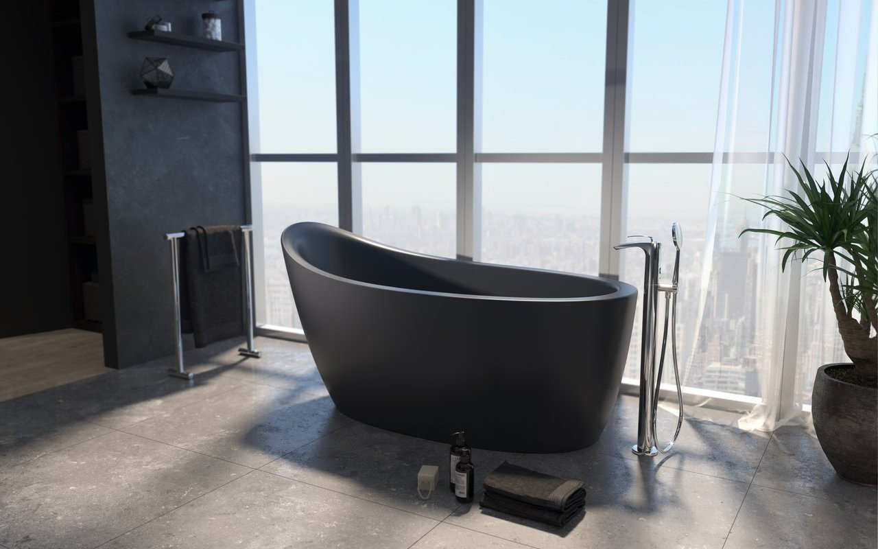 Aquatica Emmanuelle 2 Black Freestanding Solid Surface Bathtub 01 (web)