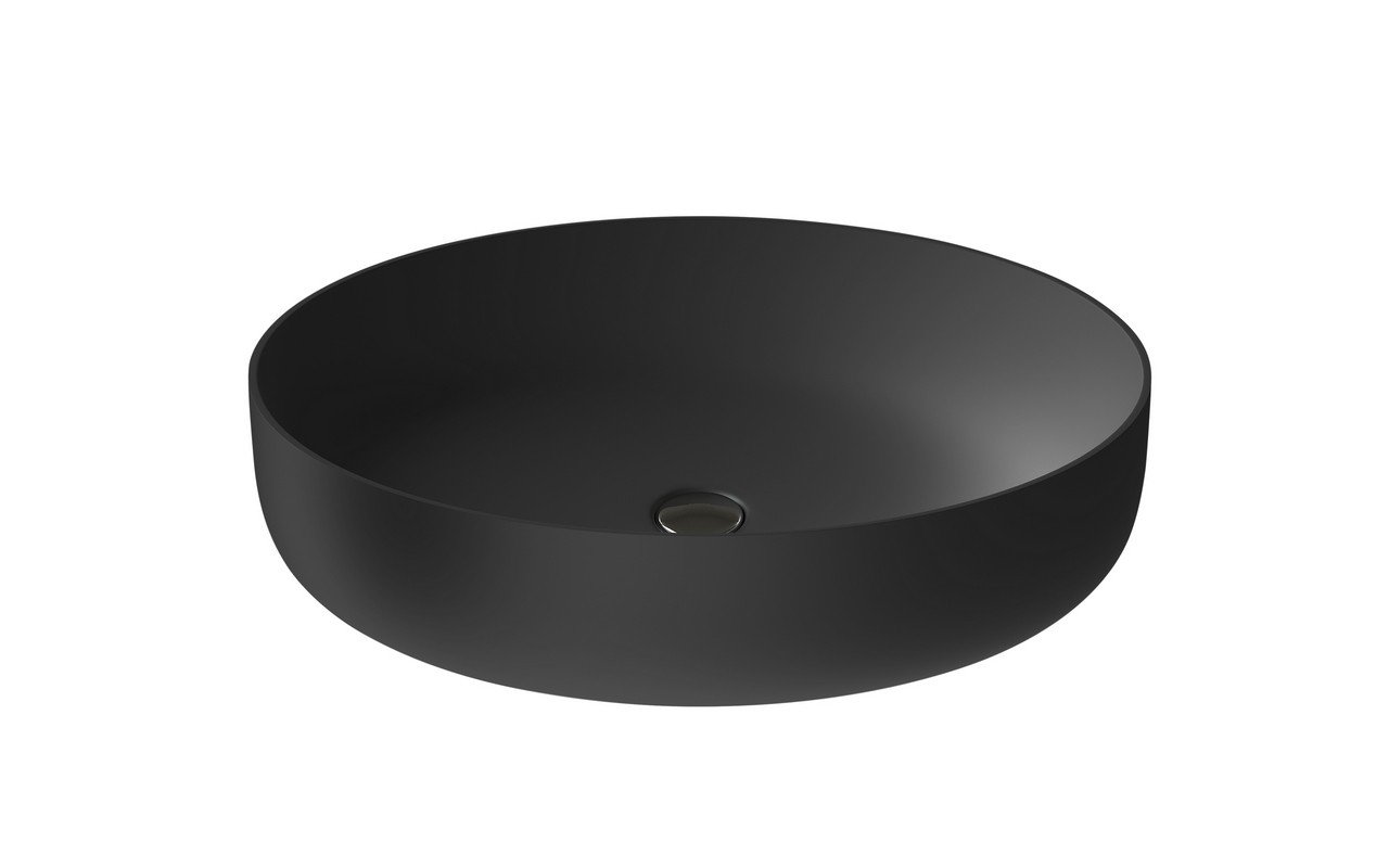 Aquatica Aurora-Blck Oval Stone Bathroom Vessel Sink picture № 0