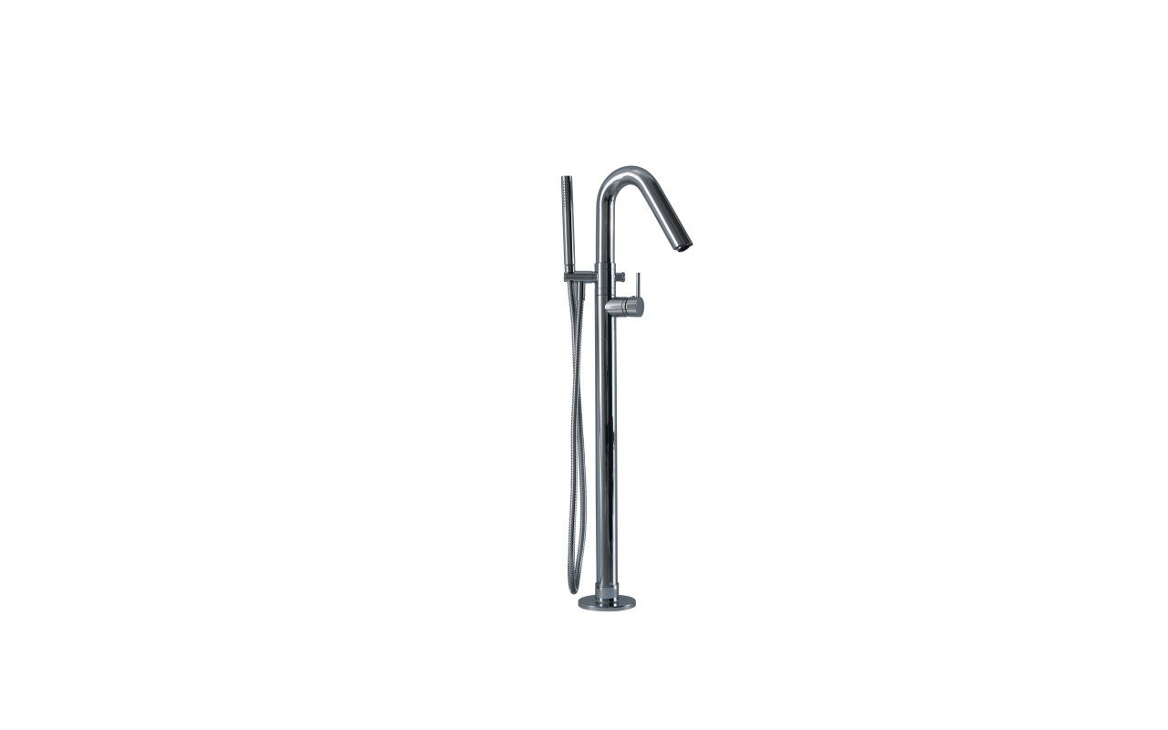 Aquatica Colonna WS Faucet Floor Mounted Tub Filler Chrome