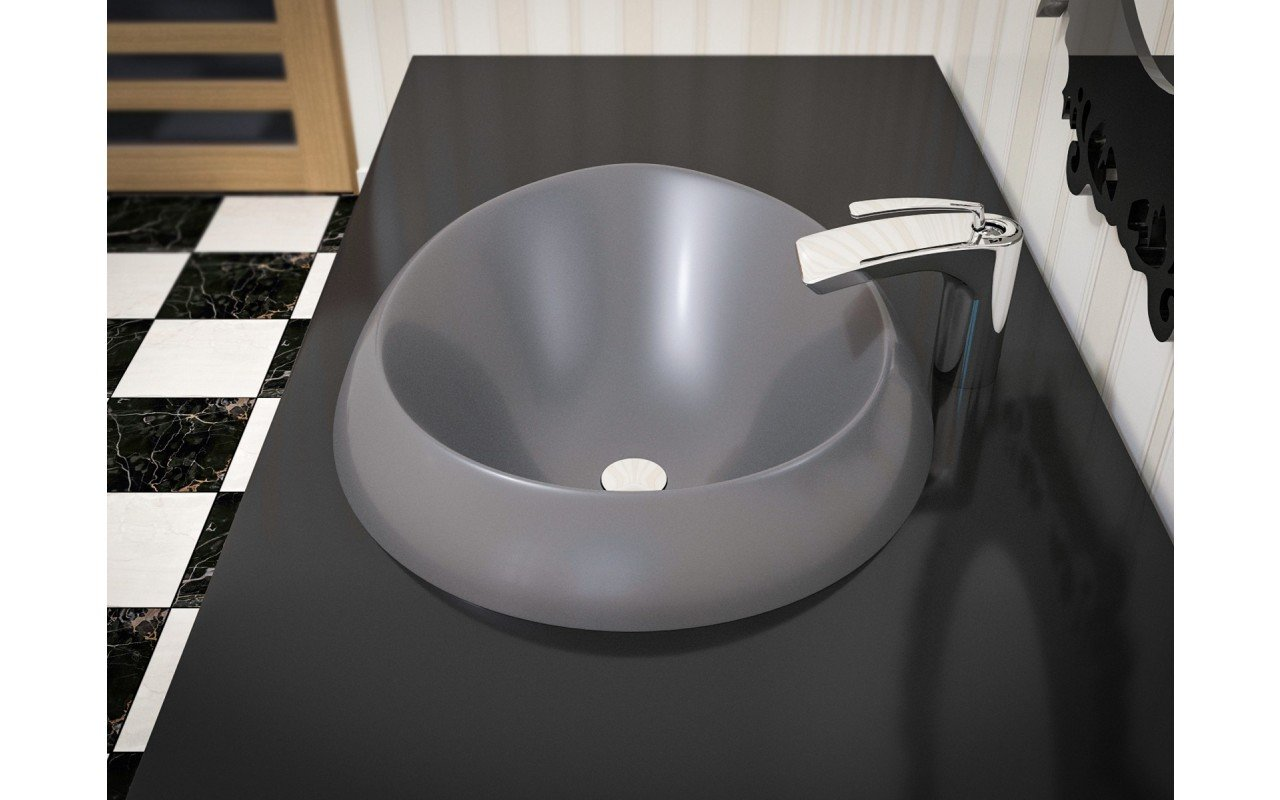 Aquatica Organic Sink Coffee EcoMarmor Washbasin 3D web (2)