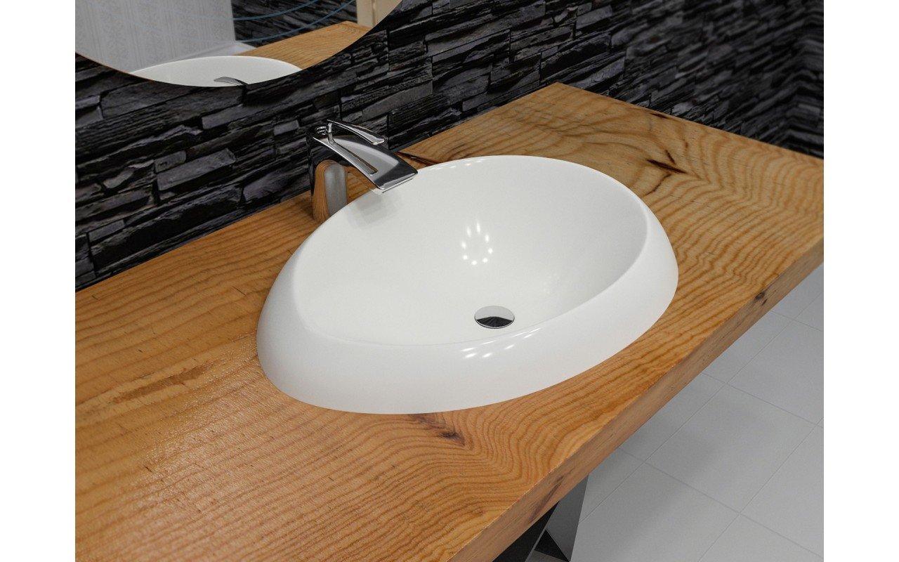 Aquatica Organic Sink Wht EcoMarmor Washbasin 3D web