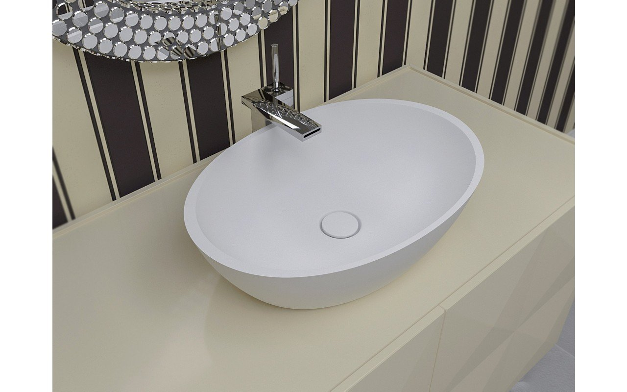 Aquatica Sensuality-Wht™ Stone Bathroom Vessel Sink picture № 0