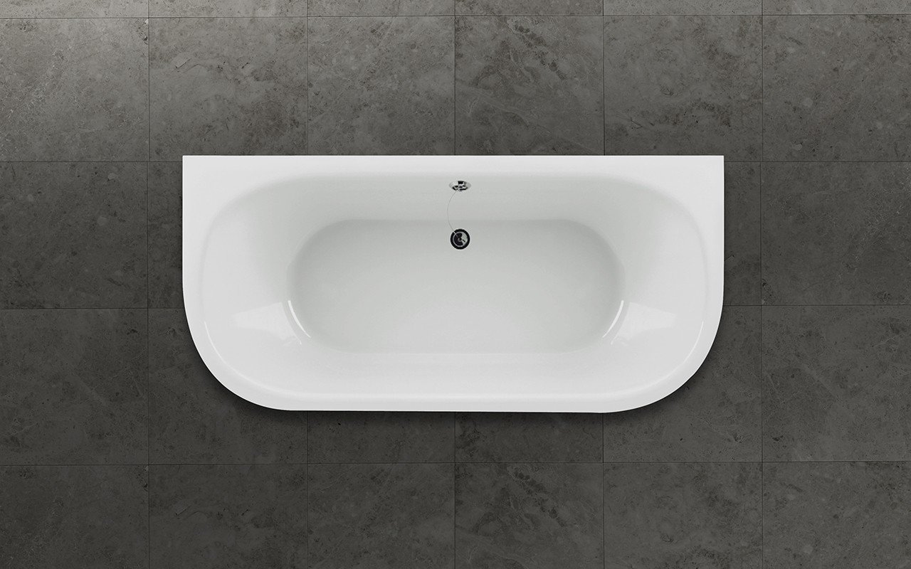 Aquatica inflection b wall wht corner stone bathtub top web