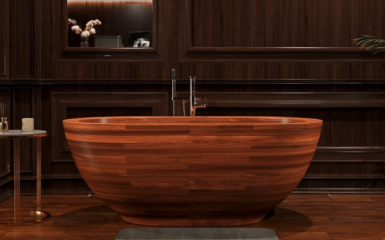 Aquatica Karolina 2 Freestanding Wooden Bathtub picture № 0