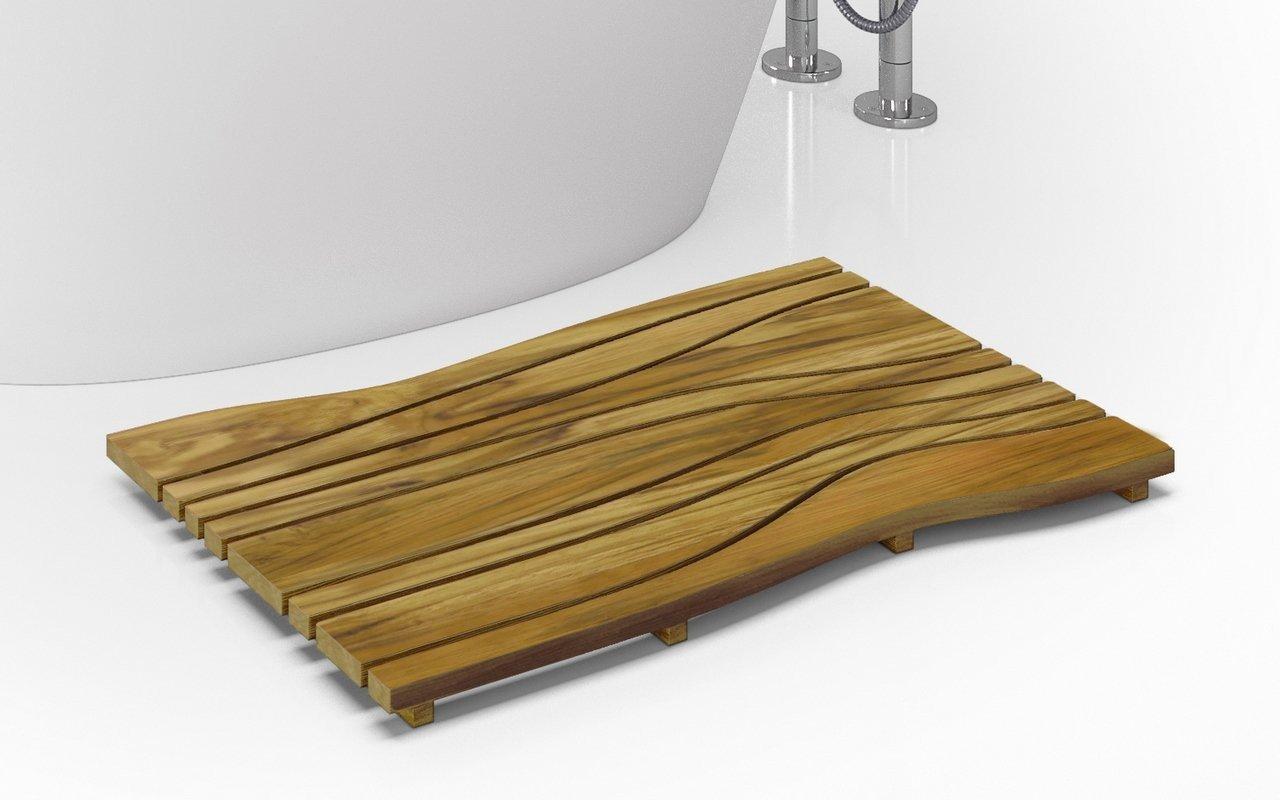 Aquatica Onde Waterproof Teak Bath Shower Floor Mat picture № 0