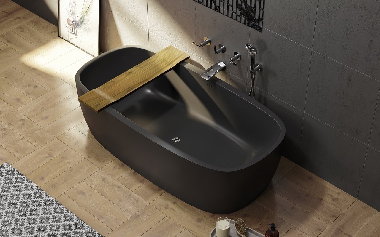 Aquatica Tidal Waterproof Teak Bathtub Tray picture № 0