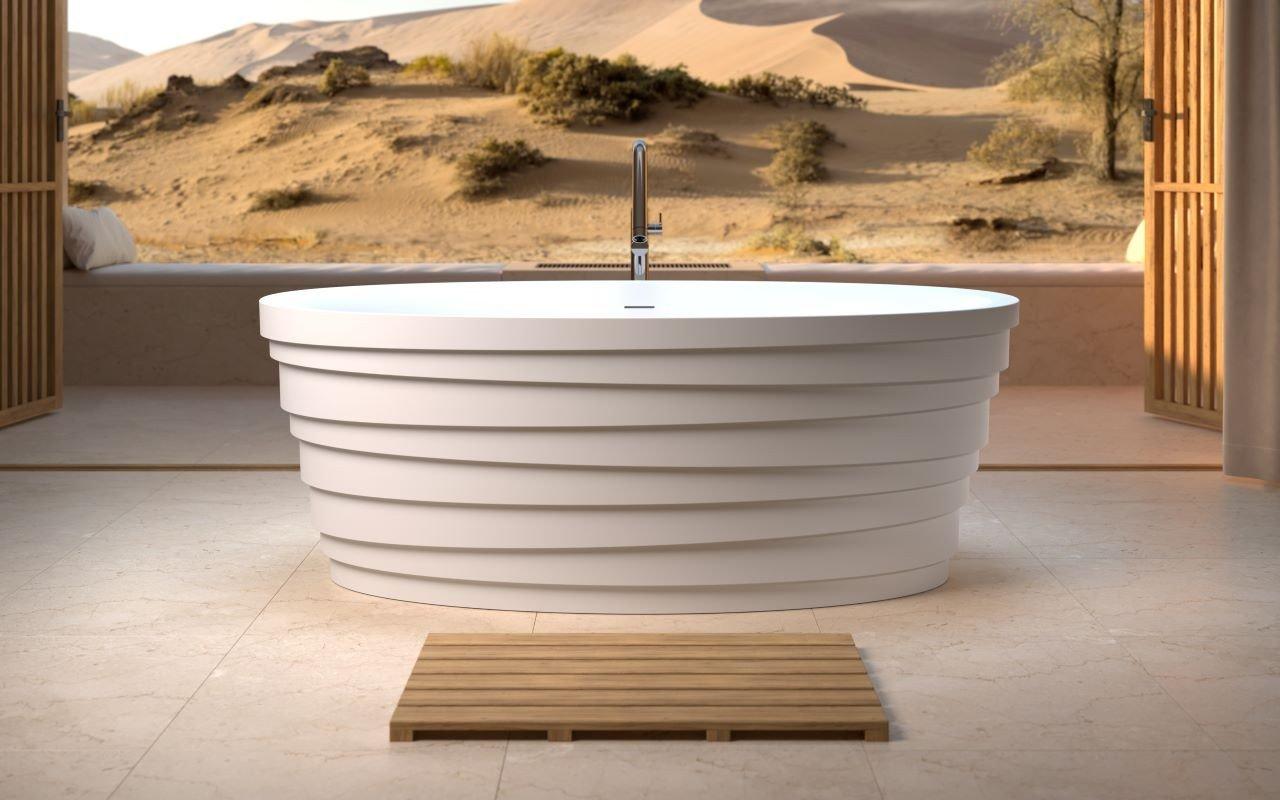 Aquatica Dune White Freestanding Solid Surface Bathtub picture № 0