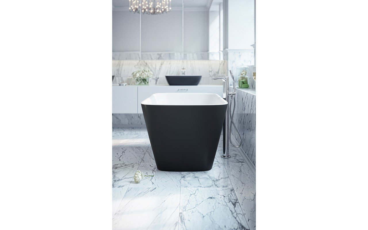Arabella Black White Freestanding Solid Surface Bathtub by Aquatica web (7)