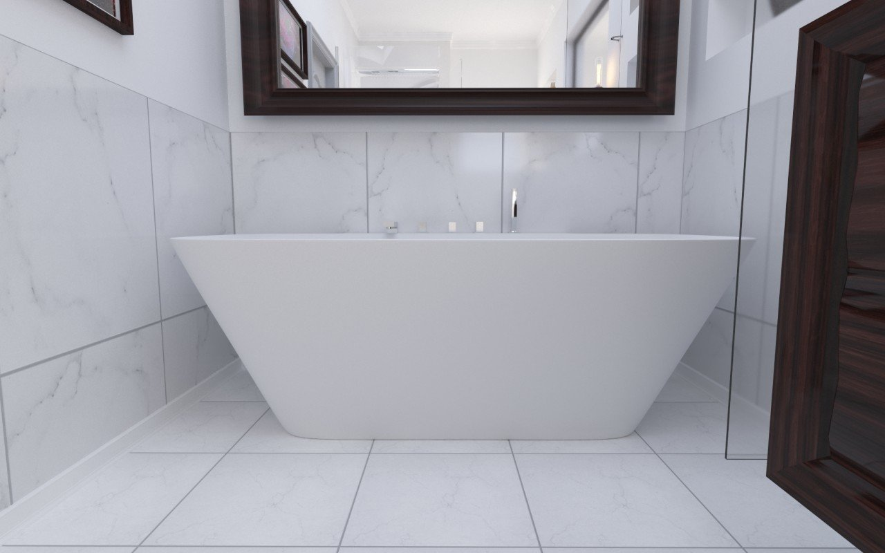 Arabella Wall Stone Bathtub 3D 5