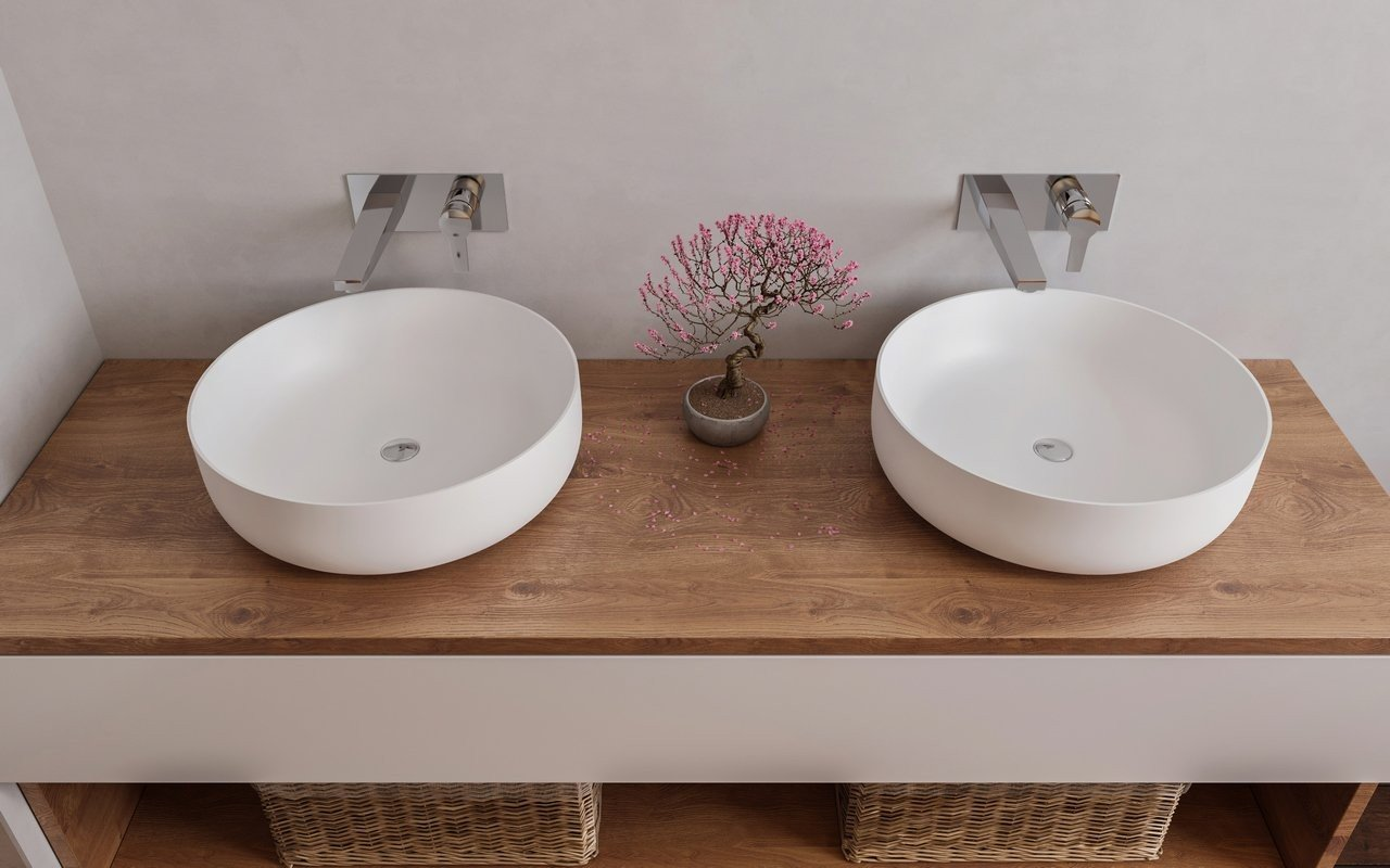 Aquatica Aurora-Wht Round Stone Bathroom Vessel Sink picture № 0