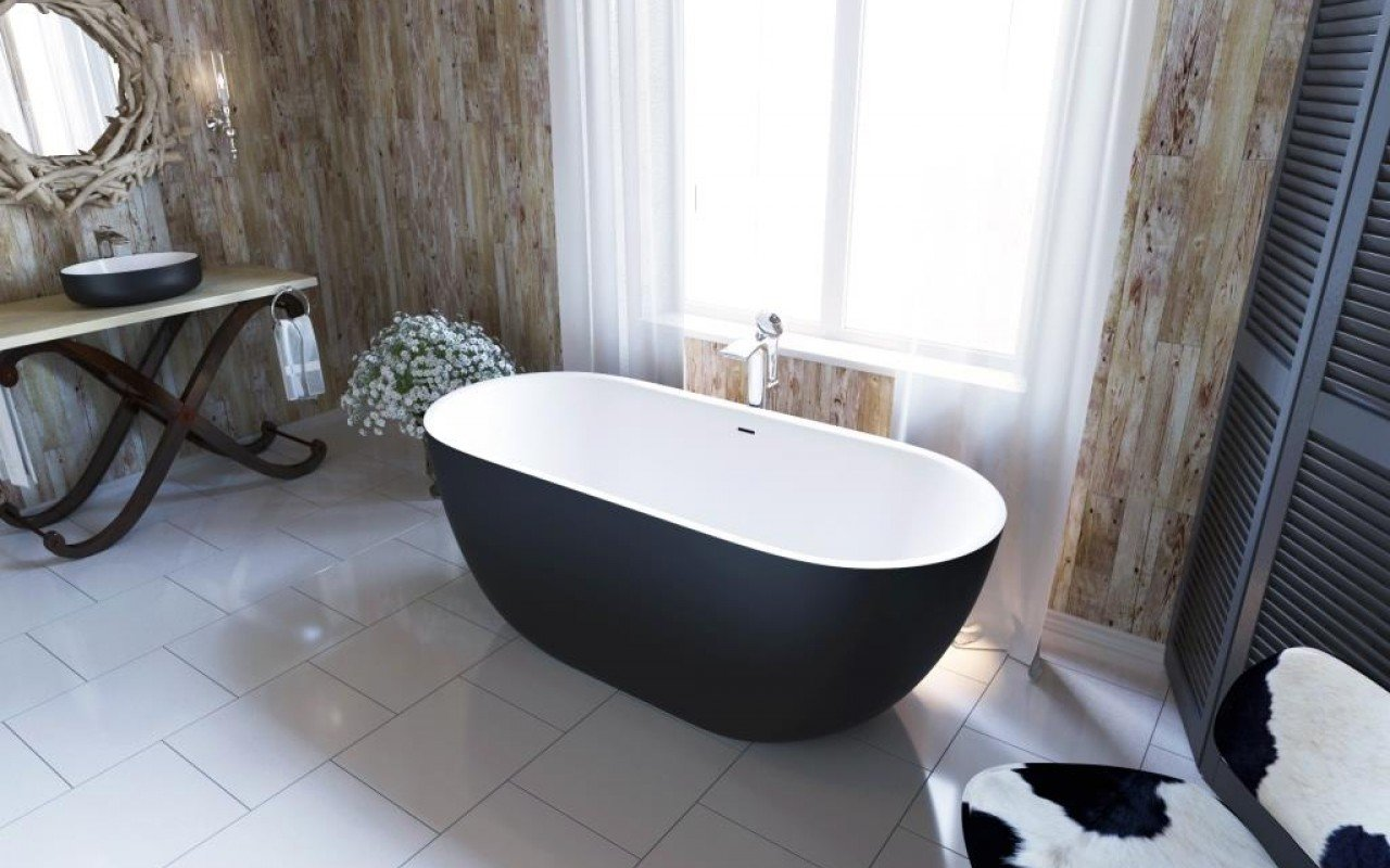 Corelia Black Wht Freestanding Stone Bathtub 2 web