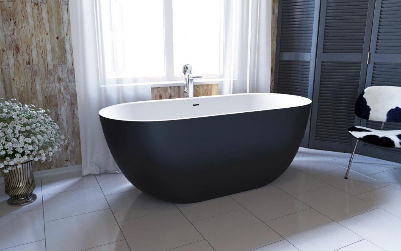 Corelia Black Wht Freestanding Stone Bathtub web