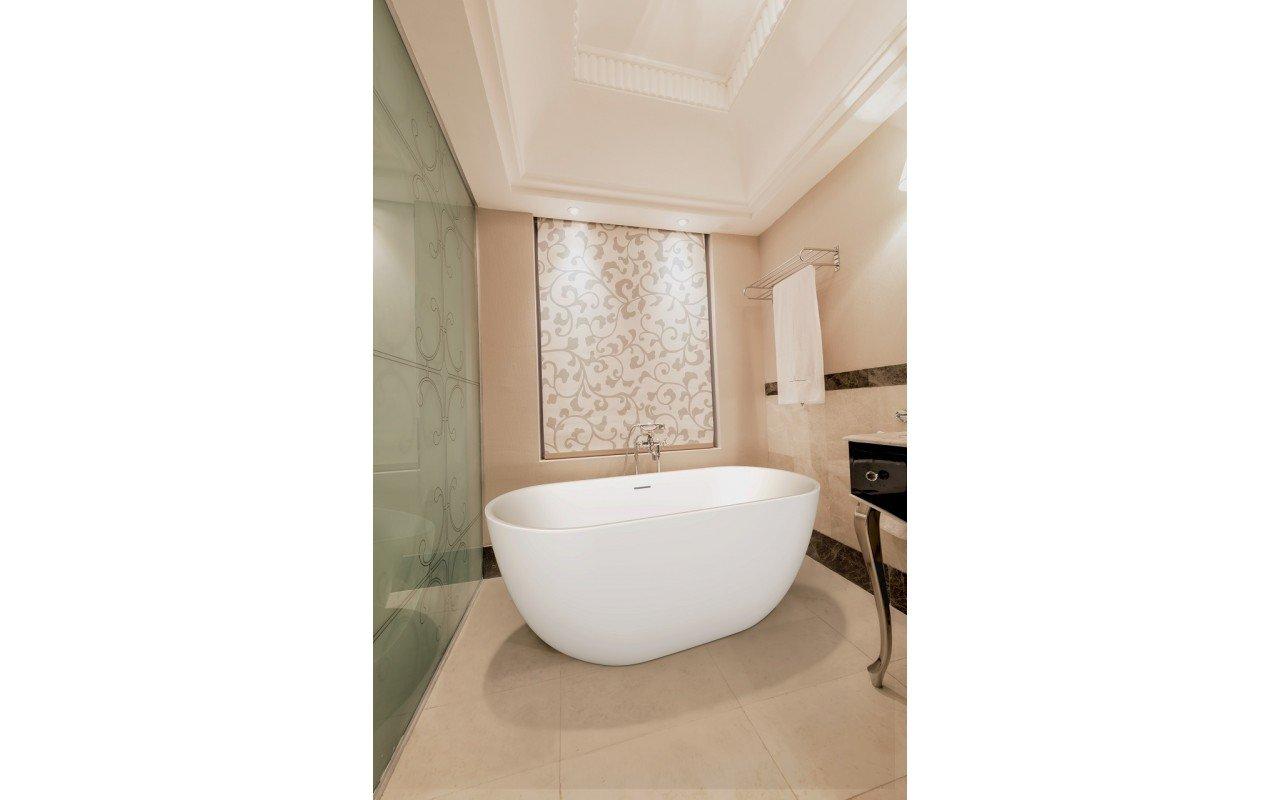 Corelia Wht Freestanding Oval Solid Surface Bathtub by Aquatica web
