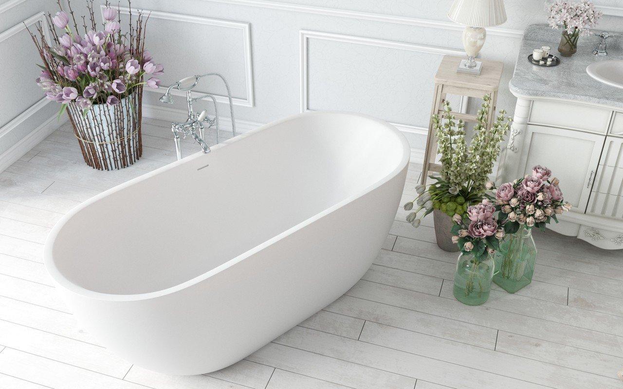Corelia wht purescape 617bm freestanding solid surface bathtub by Aquatica 04 (web)