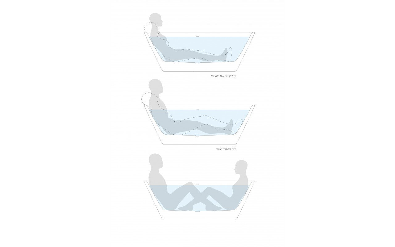 Ergonomic Aquatica Arabella™ Freestanding Solid Surface Bathtub En