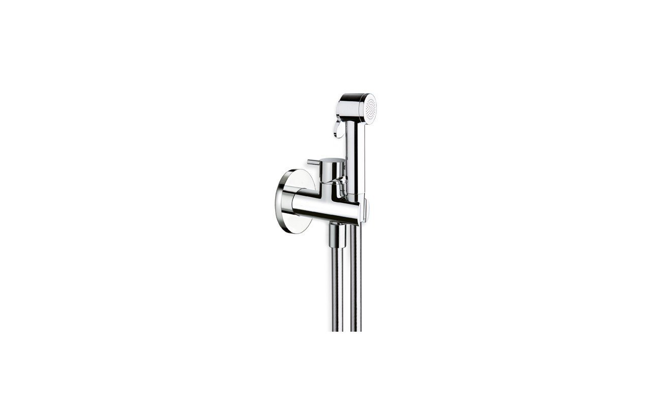 Aquatica Gamma-676 Hand Held WC/Bidet Sprayer with Holder and Hose in Chrome picture № 0