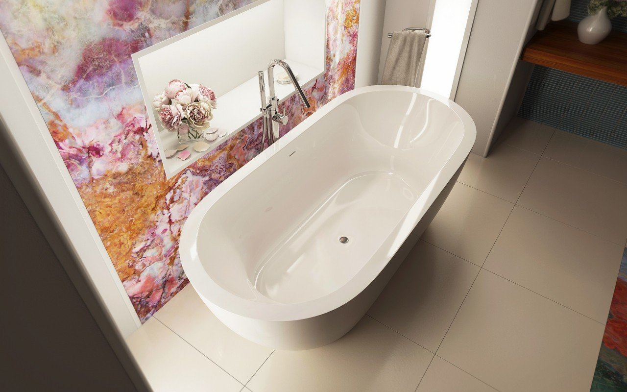 Gloria Wht Freestanding Acrylic Bathtub 2 web