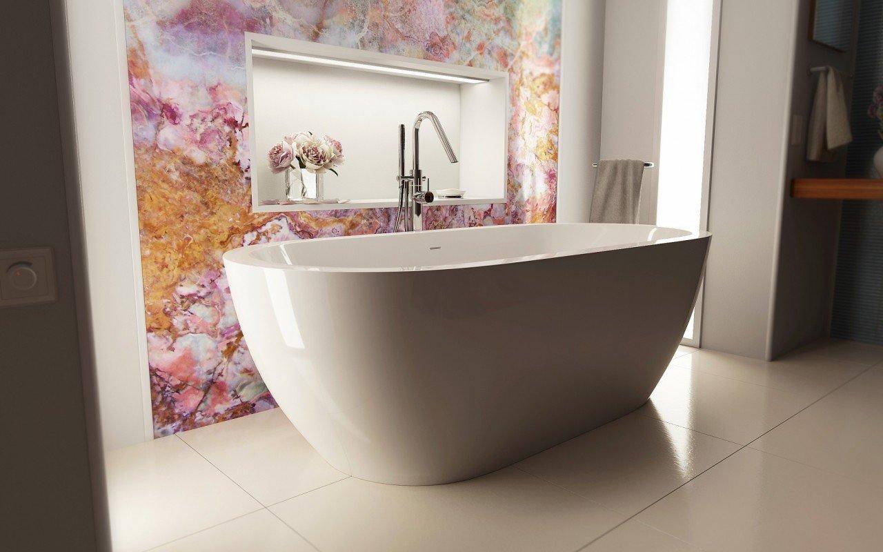 Gloria Wht Freestanding Acrylic Bathtub 5 web