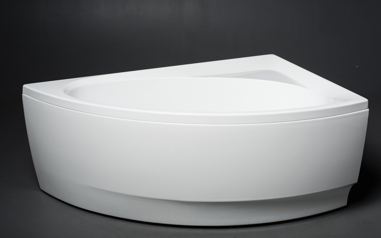 Idea L Wht Corner Acrylic Bathtub 2