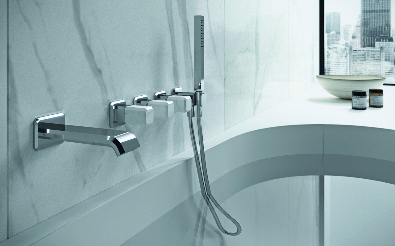 Aquatica Lorena-165 Wall Mounted Bath Filler – Chrome picture № 0