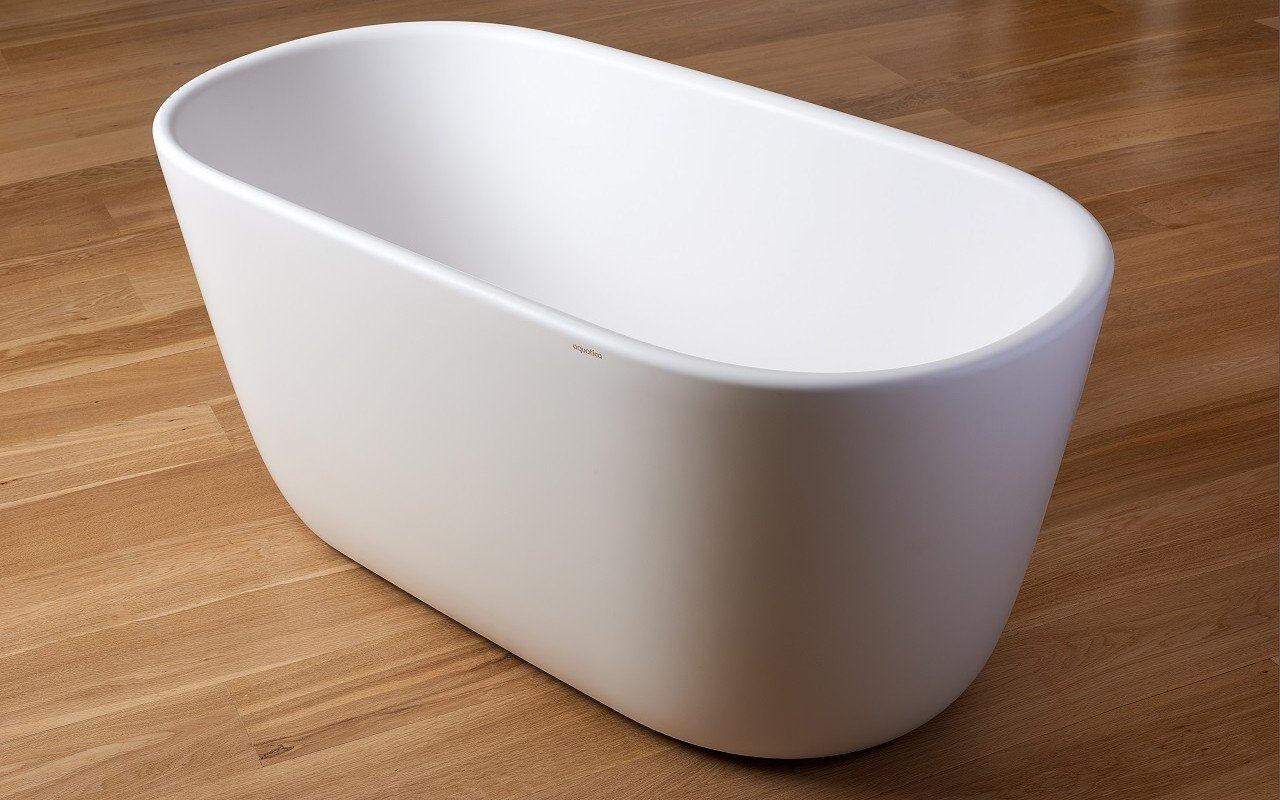 Lullaby Wht Small Freestanding Solid Surface Bathtub by Aquatica web 5