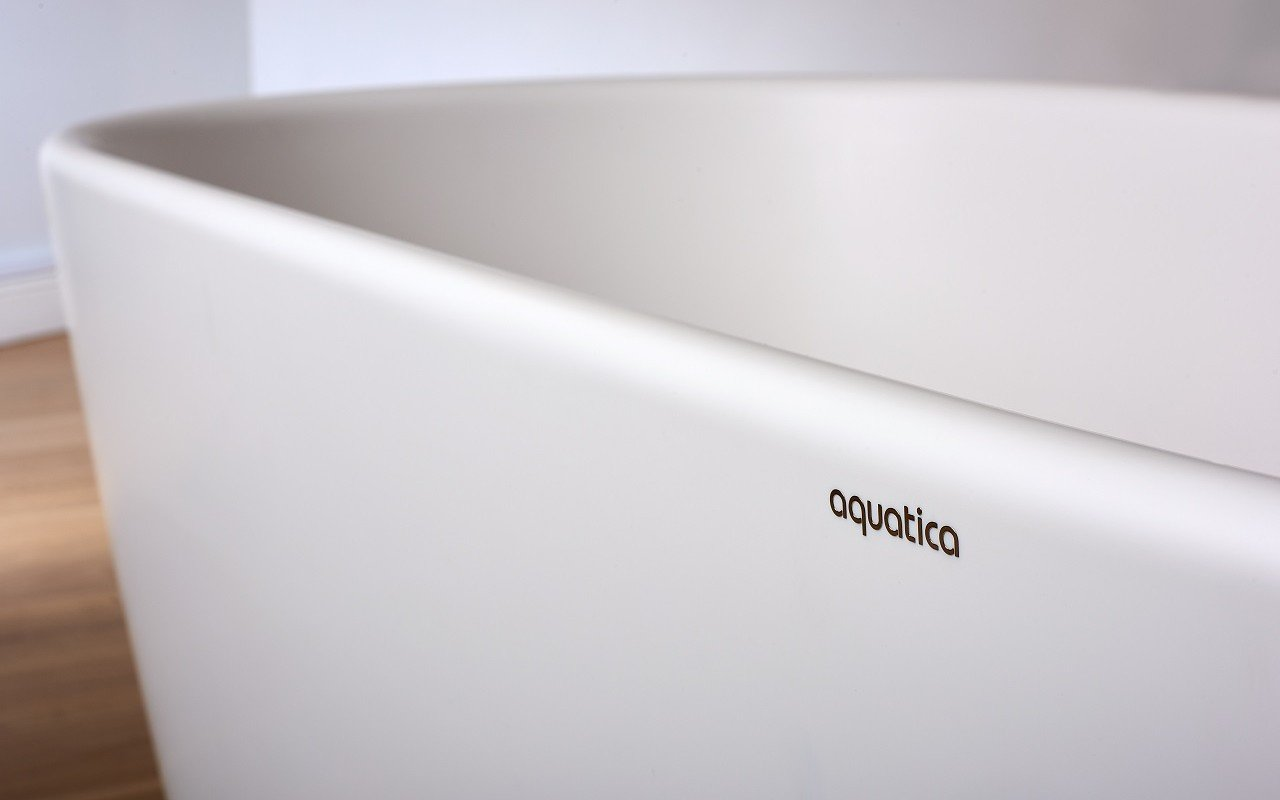 Lullaby Wht Small Freestanding Solid Surface Bathtub by Aquatica web 6
