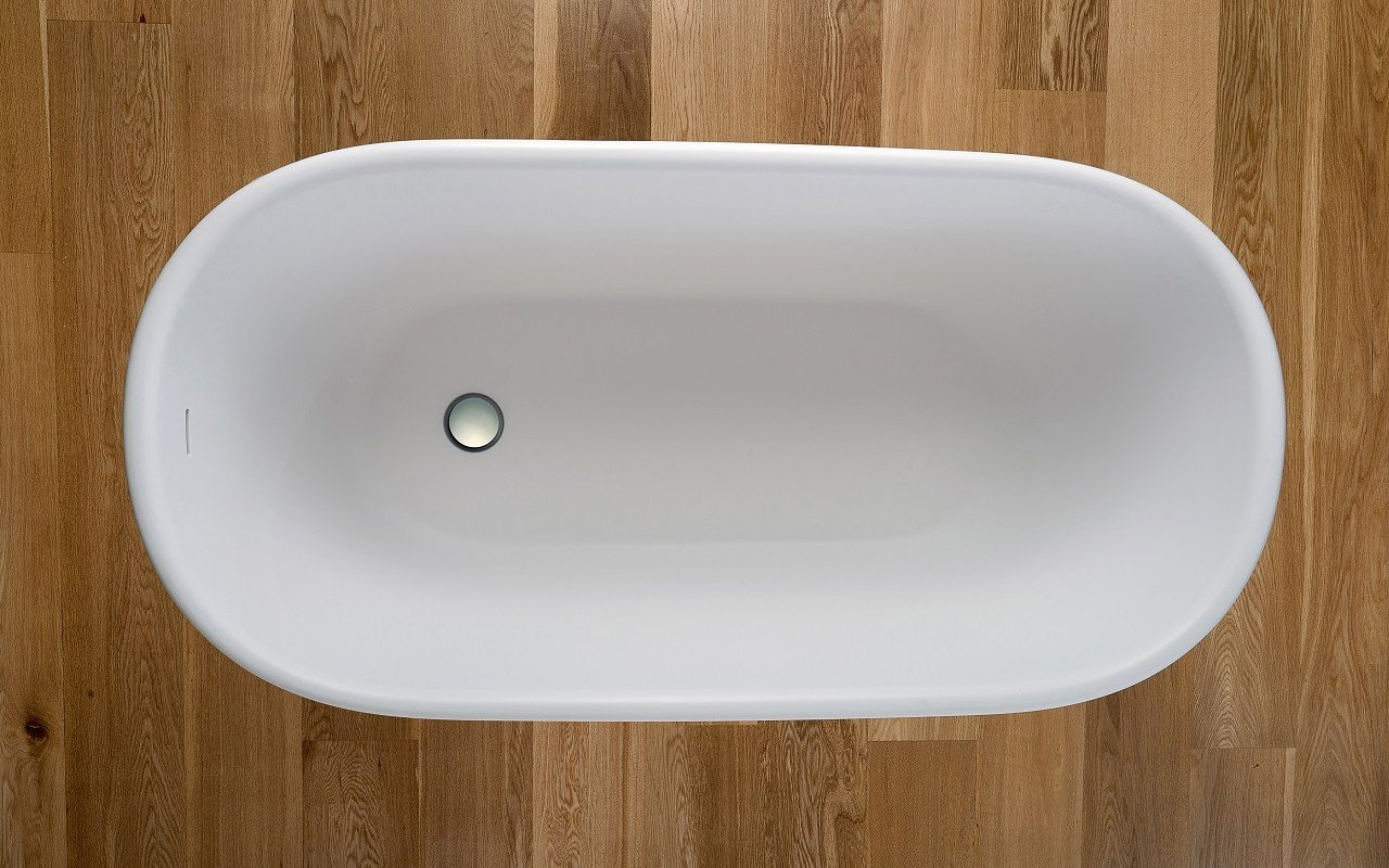 Lullaby Wht Small Freestanding Solid Surface Bathtub by Aquatica web 7