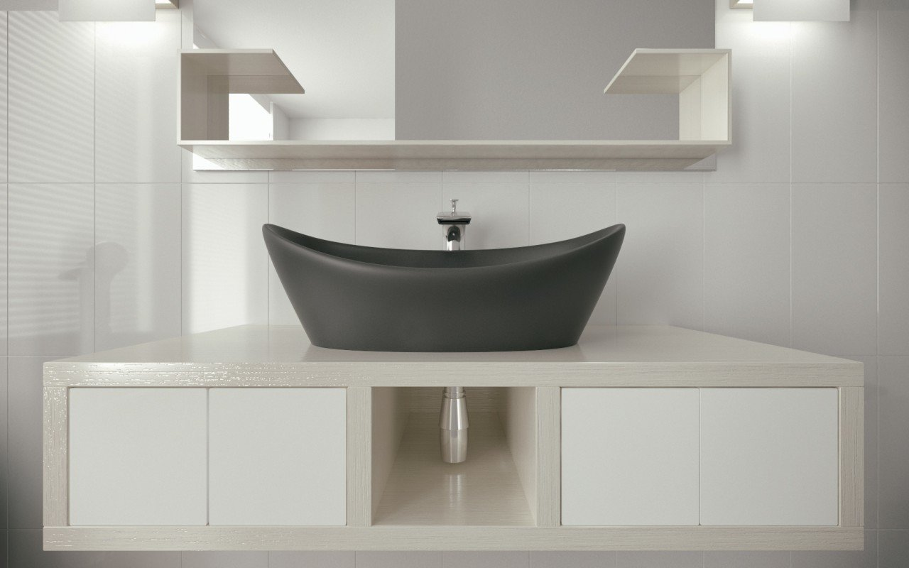 Luna Black Stone Lavatory by Aquatica (3)