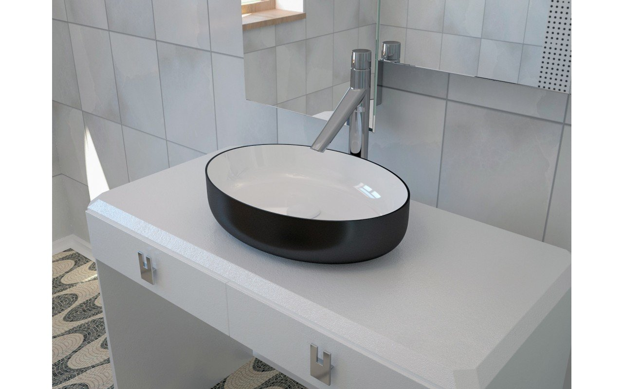 Metamorfosi Black Wht Oval Ceramic Vessel Sink 3D web (2)