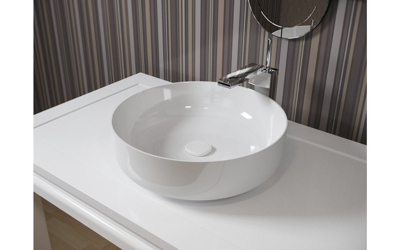 Aquatica Metamorfosi-Wht Round Ceramic Bathroom Vessel Sink picture № 0