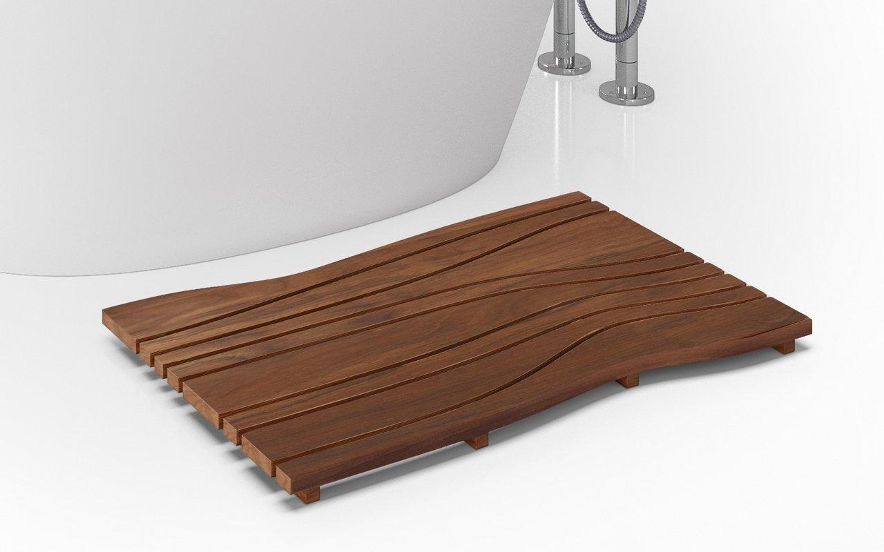 Onde waterproof iroko wood floor mat 03 (web)