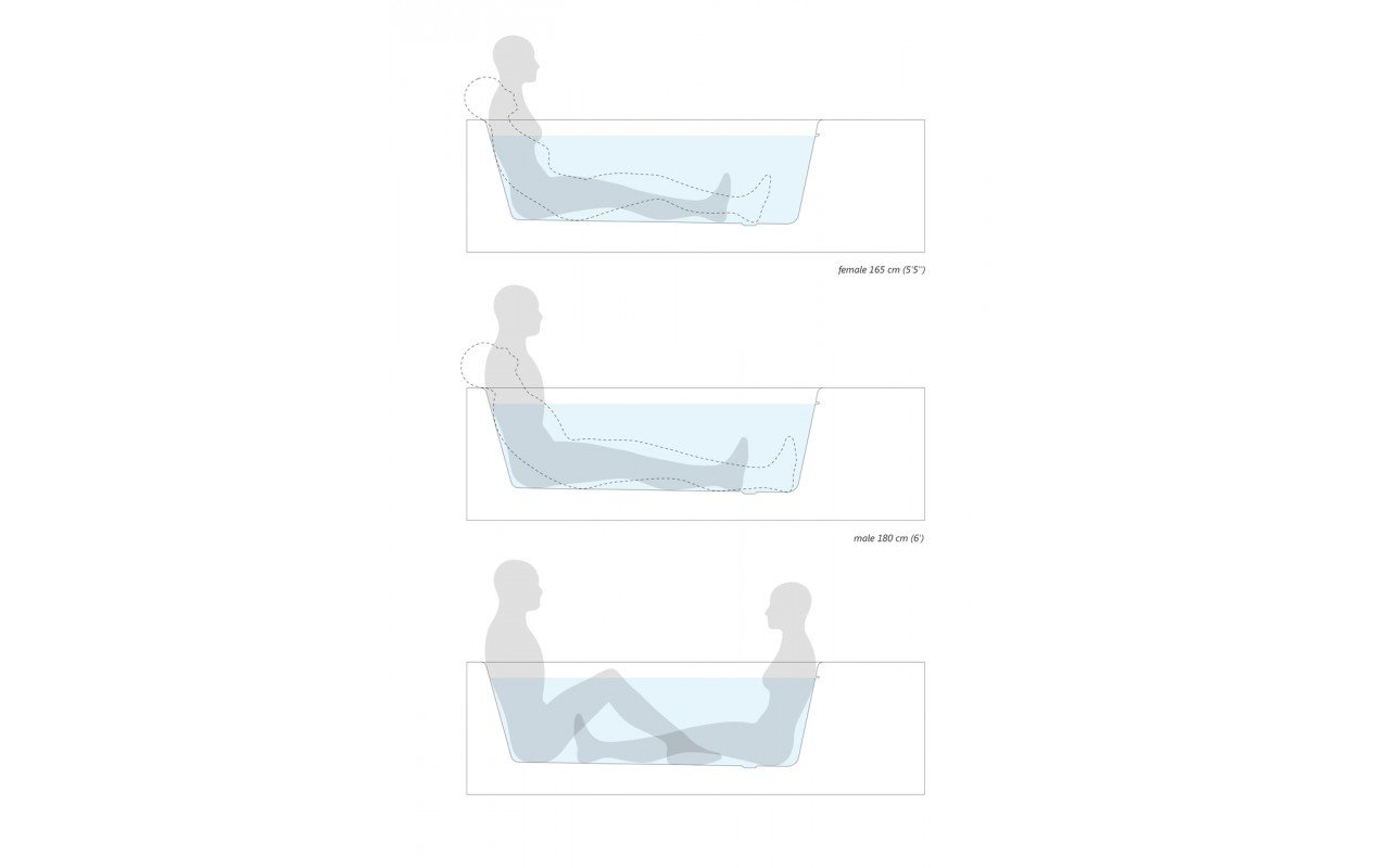 Pure 2L by Aquatica Back To Wall Stone Bathtub ergonomics (web)