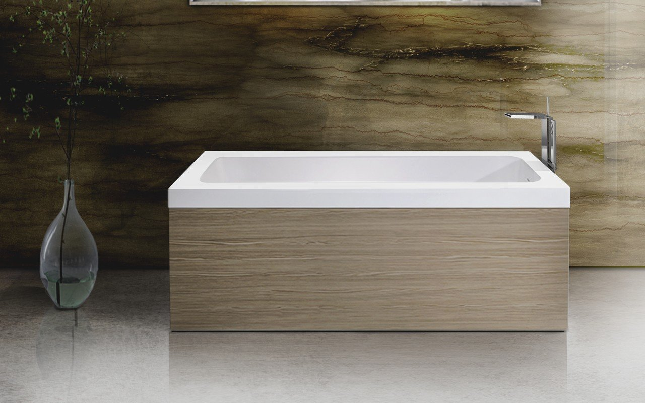 Pure 1l by aquatica back to wall stone bathtub with light decorative wooden side panels 03 (web)