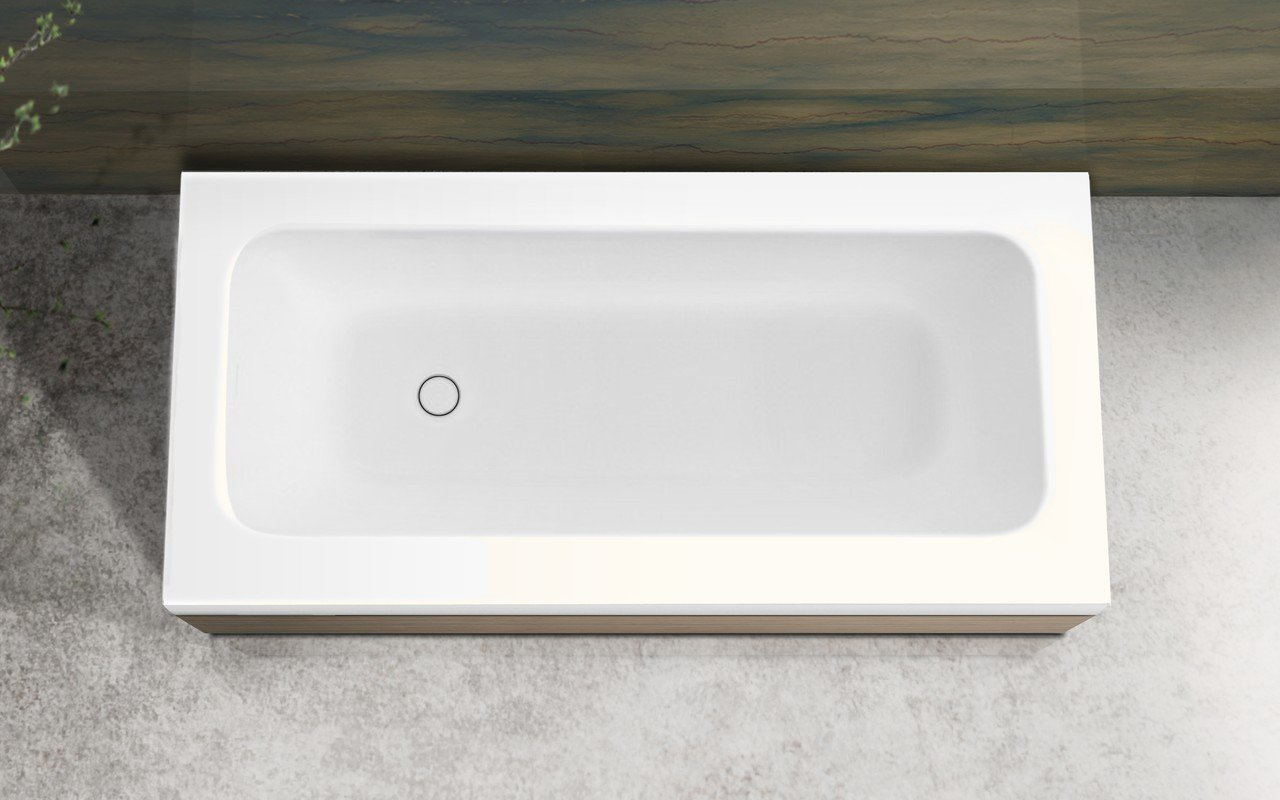 Pure 1l by aquatica back to wall stone bathtub with light decorative wooden side panels 04 (web)