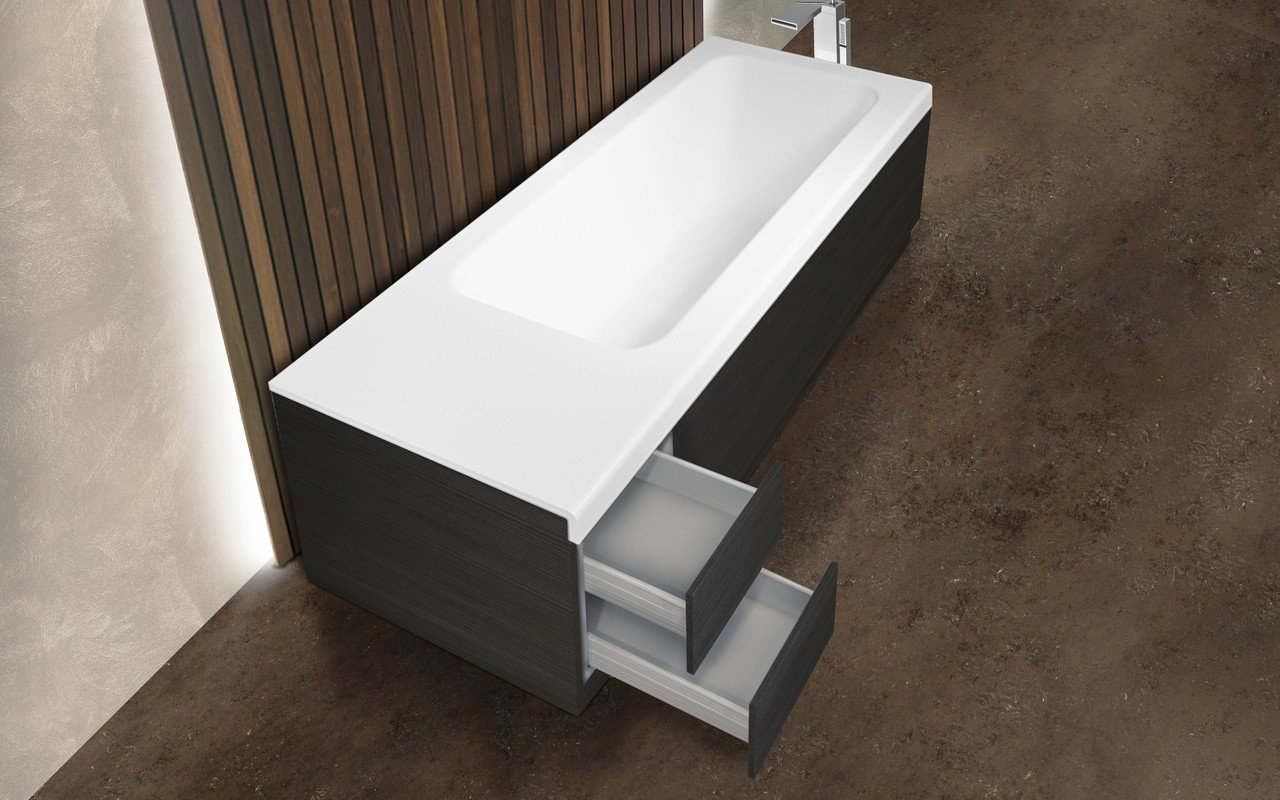 Pure 2d by aquatica back to wall stone bathtub with dark decorative wooden side panels 04 (web)