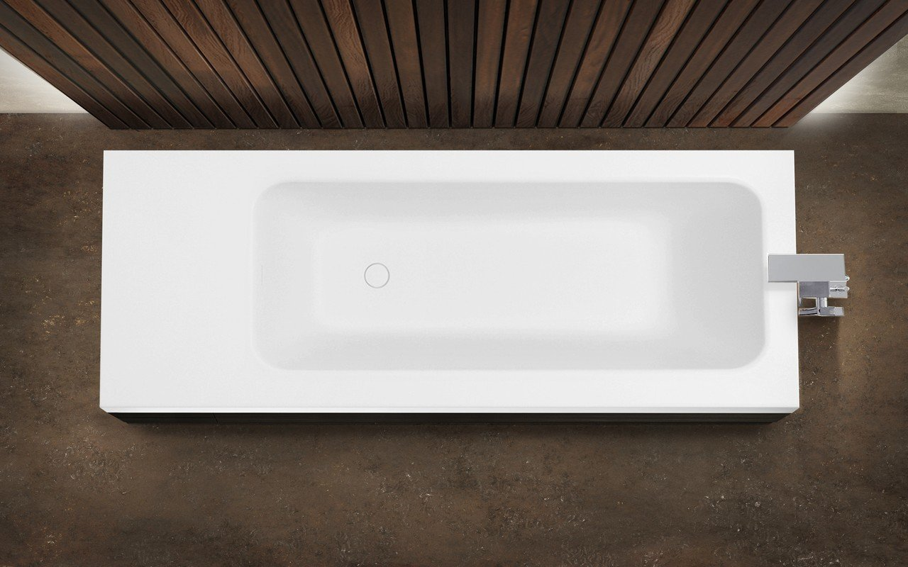 Pure 2d by aquatica back to wall stone bathtub with dark decorative wooden side panels 05 (web)
