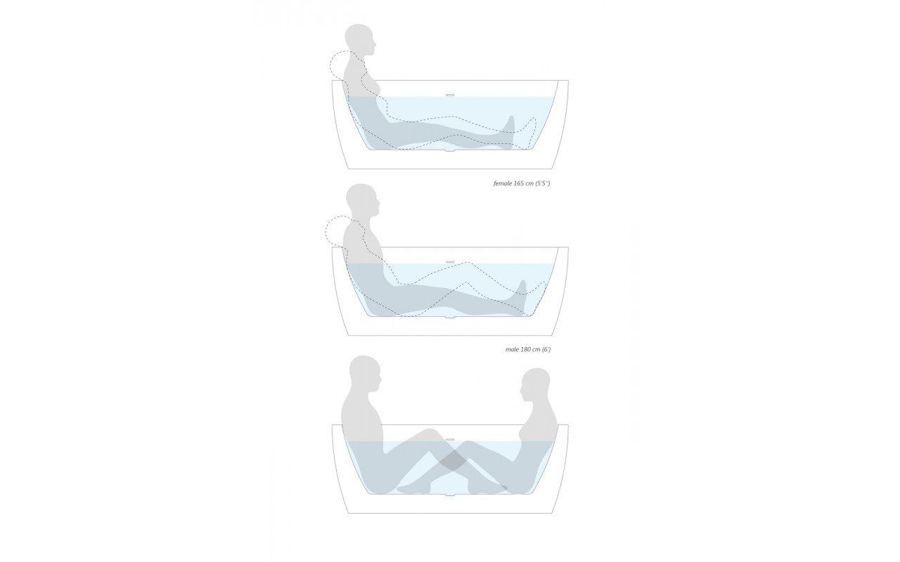 PureScape 174A Wht Freestanding Acrylic Bathtub ergonomics (web)
