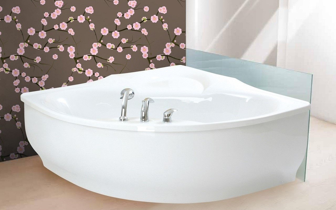 PureScape 314 Corner Acrylic Bathtub by Aquatica web 1