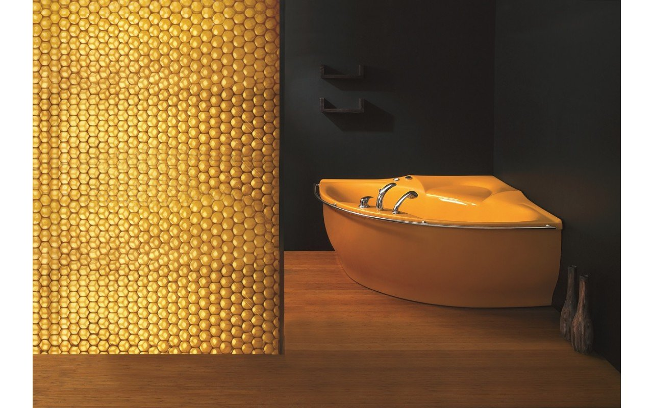 PureScape 314 Corner Acrylic Bathtub by Aquatica web 3