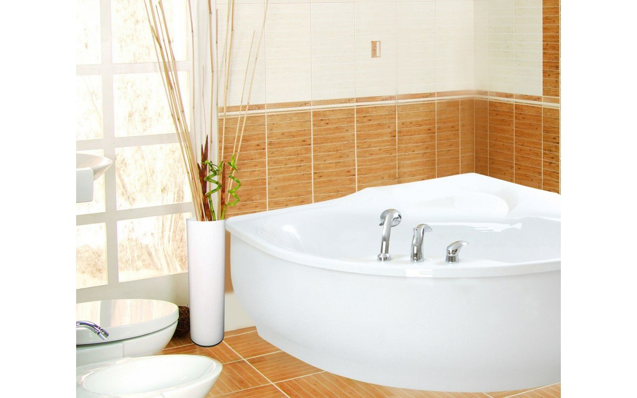PureScape 314 Corner Acrylic Bathtub by Aquatica web 4