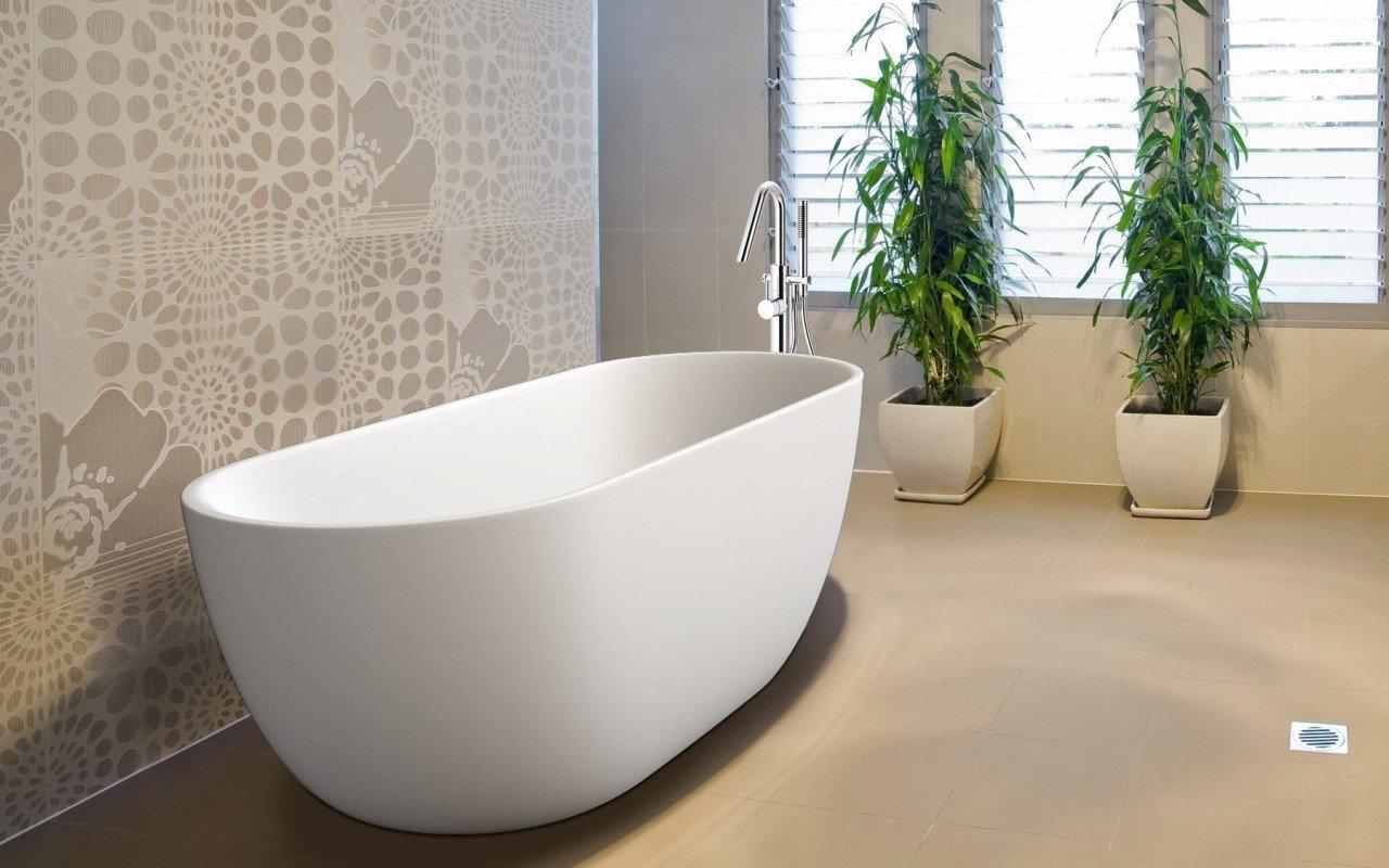 Purescape 617 Freestanding Stone Bathtub 2