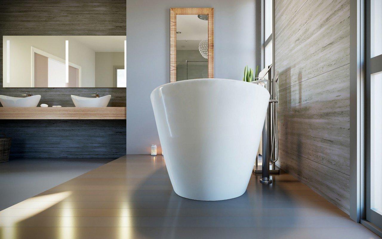 Purescape 748 Glossy Freestanding Slipper Stone Bathtub 06 web