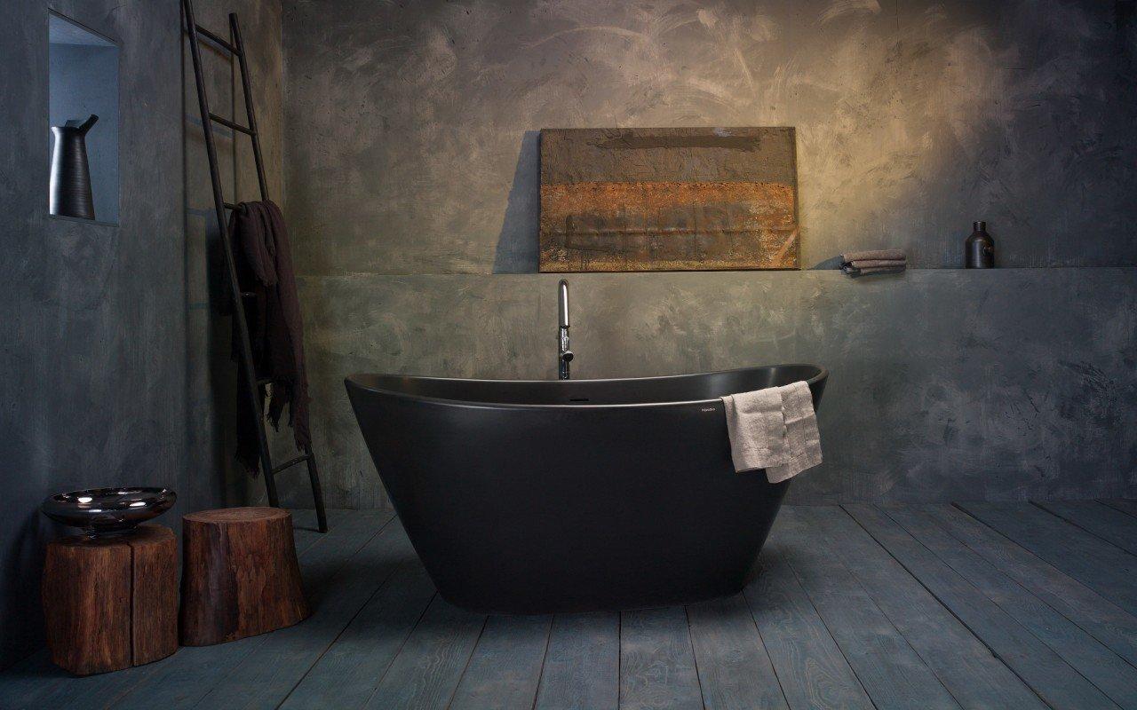 Purescape 748M Black Freestanding Stone Bathtub web (5)