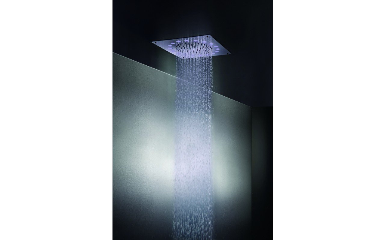 Rainbow Dynamic LED Ceiling Shower Head Chrome MAIN