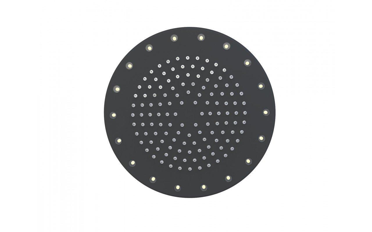 Rainbow Dynamic LED Round Shower Head Black Matte 3