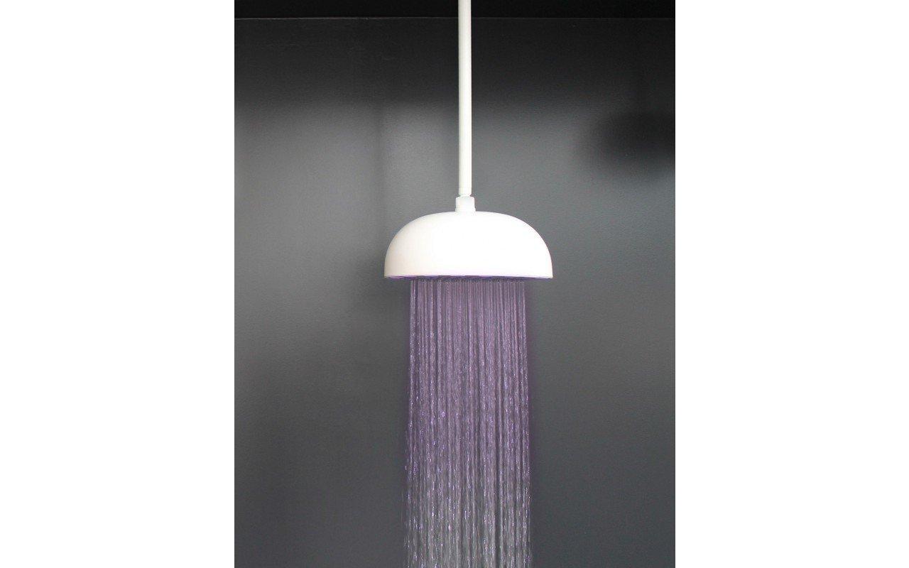 Rainbow Dynamic LED Round Shower Head White Matte 2 web