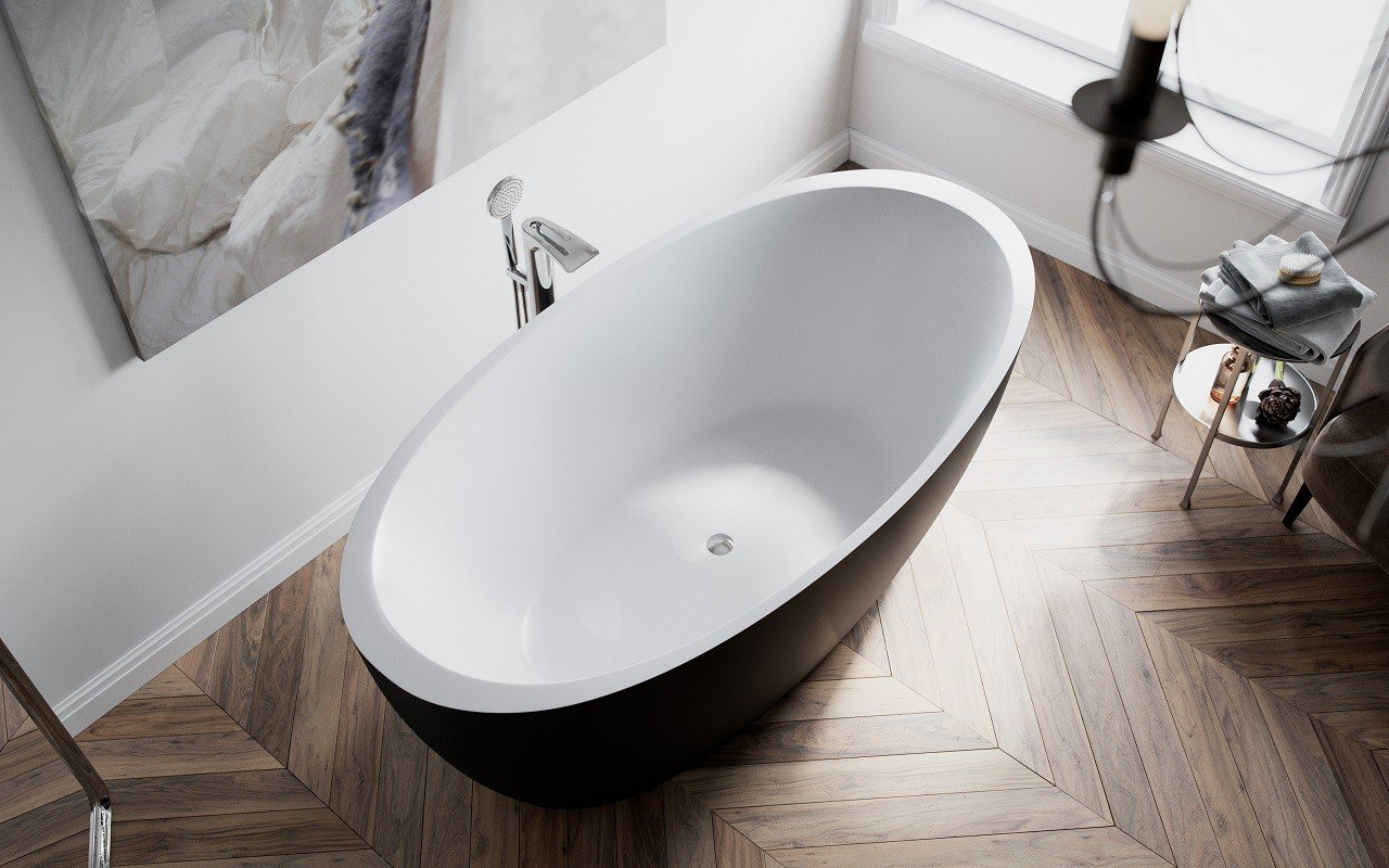 Sensuality Back wht freestanding oval solid surface bathtub by Aquatica (2) Copy